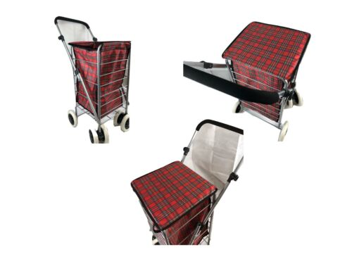 Solide Pliable Shopping Trolley 4//6 roues Pliable Portable Durable