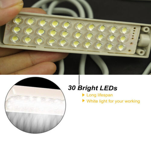 Sewing Machine Light 30 LED Magnetic Mounting Flexible Arm Lamp WITH EU Plug
