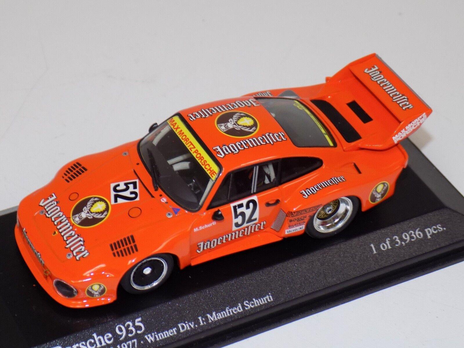 Minichamps Porsche 935 Winner +Div 1 Zolder DRM 1977 Jagermeister