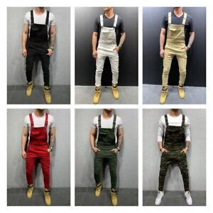 Men-Adjustable-Shoulder-Strap-Slim-Fit-Denim-Overalls-Casual-Bib-Pants-Jumpsuits