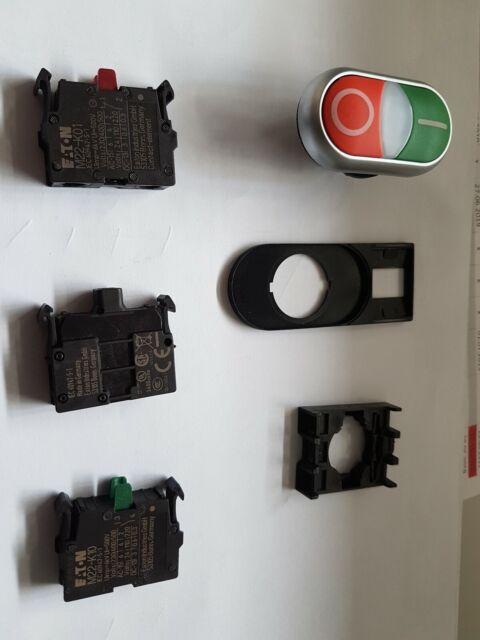 Eaton (Moeller) Doppeldrucktaster X1/X0/K11/230-W M22-DDL-GR  85-264V