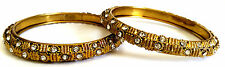 Indian Antique Gold Bangle Diamond Light Weight Asain Wedding Jewellery 2*8