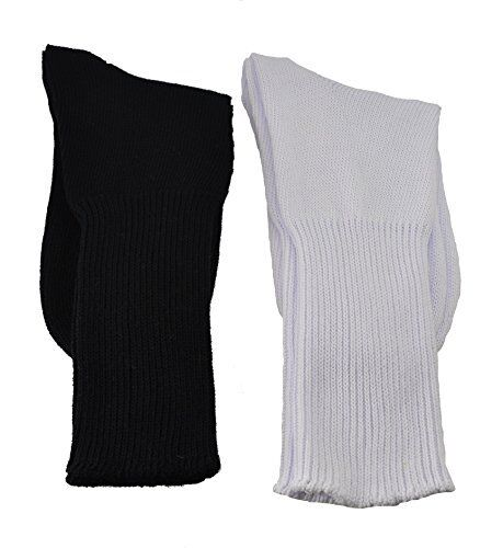 Sierra Socks Health Diabetic Wide Calf Cotton Crew Women/'s 2 Pair Pack W6500