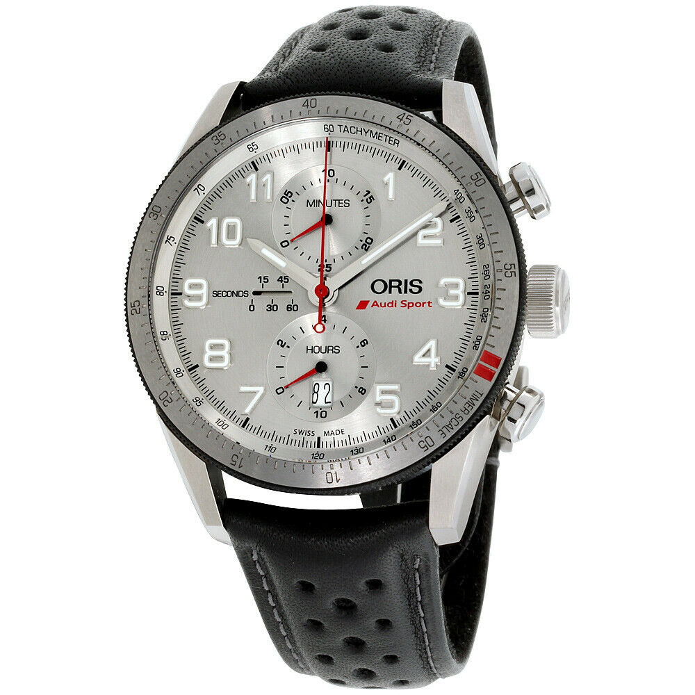 Oris Audi Sport Chrono Automatic Men's Watch 01 774 7661 7481-Set | Ebay