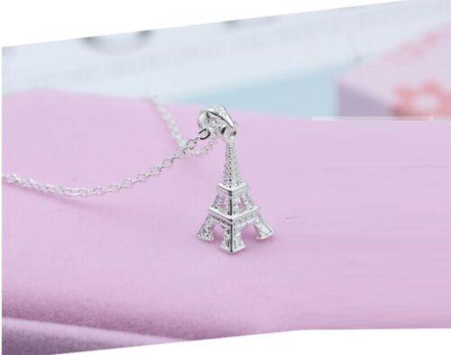 """Fashion 3D PARIS /""""la tour Eiffel/"""" Argent sterling 925 SP Collier Pendentif"""