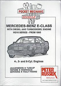 mercedes benz e class d td engine w210 series 95 on 4 5 6cyl rh ebay co uk w210 maintenance manual mb w210 service manual