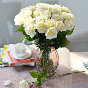 ARTIFICIAL-FLOWER-FAUX-ROSE-SILK-HANDMADE-WEDDING-PARTY-HOME-DECORATION-ALLURING