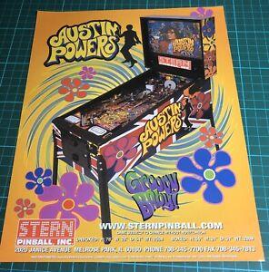 Stern Austin Powers Arcade Pinball Flyer, Advert