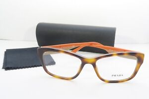 34604ad2d61 Prada Women s Orange Glasses with case VPR 24R TKR-1O1 54mm ...