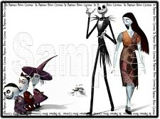 """Nightmare Before Christmas 8""""x10"""" Fabric Quilt Block Quilting Sewing Square #4"""