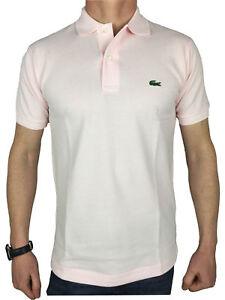 Lacoste L1212 Mens S S Logo Branded Polo Shirt In Flamingo Pink Ebay