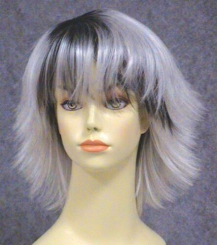 ORORO WHITE BLACK WOMENS SHORT STRAIGHT HALLE STORM X-MEN SUPERHERO COSTUME WIG