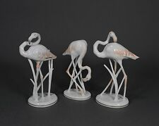 Rosenthal 3 x Flamingo Flamingos Heidenreich Vogel Bird Figur figure figurine