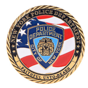 New-York-Police-Department-Gold-Plated-Commemorative-Challenge-Coin-CollectionXJ