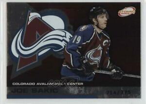 2002 03 Pacific Atomic Hobby Parallel 775 Joe Sakic 27 Hof Ebay