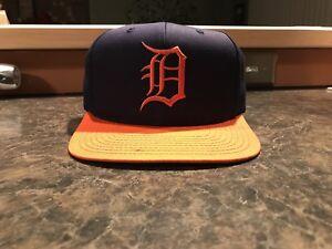 559a09d671a Image is loading Detroit-Tigers-Vintage-Snapback-Hat-Gatorade-Tiger-Stadium-
