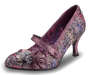 Joe-Browns-NEW-Marietta-pink-purple-glitter-high-heel-mary-jane-shoes-sizes-3-8