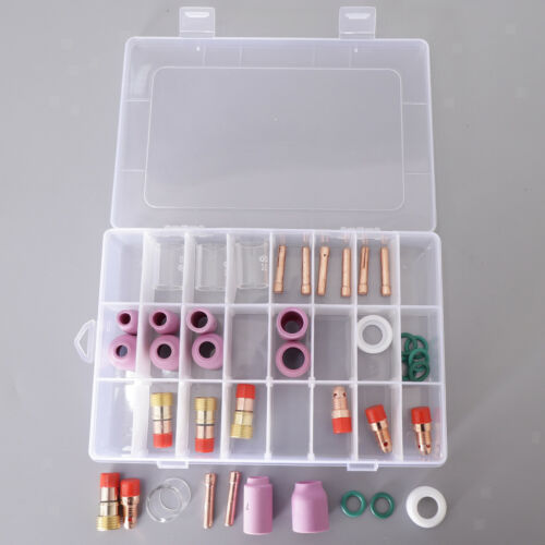 40x Nozzle Pyrex Cup Collet Consumables Kit WP17//18//26 For TIG Welding Torch