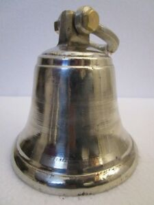 GERMAN SILVER made BELL - 1.5 Kilo - Great Sounding- Boat / Nautical / Maritime