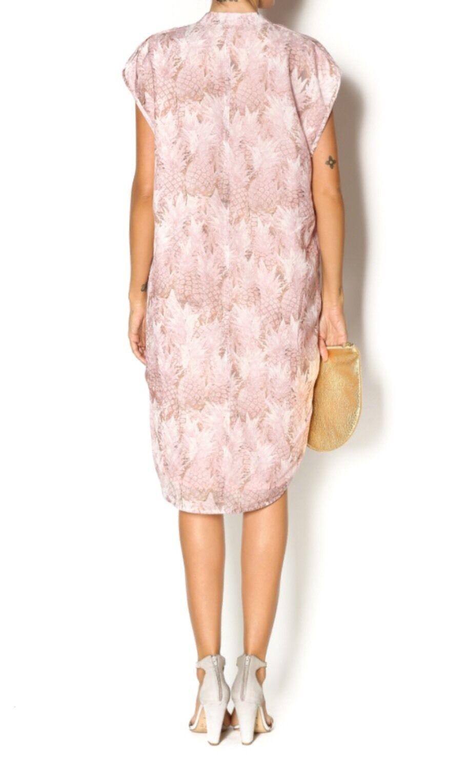 NEW NEW NEW Anthropologie Pineapple Grove Silk Dress Size XS Pink da7cc9