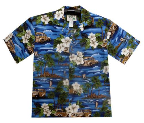 Ky /'S ORIGINALE Camicia Hawaii Oldschool auto palme multi-disponibilità limitata