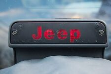 JEEP WRANGLER 3RD BRAKE LIGHT VINYL STICKER DECAL COVER Fit 1997-2006 TJ OVERLAY