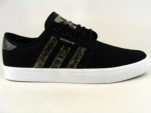 Image is loading Adidas-Originals-Seeley-black-camo-clay-white-mens-