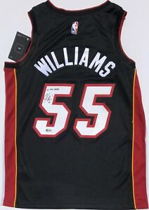 newest 0b602 e15f9 Details about JASON WILLIAMS #55 SIGNED MIAMI HEAT BASKETBALL JERSEY BAS 06  NBA CHAMPS! KINGS