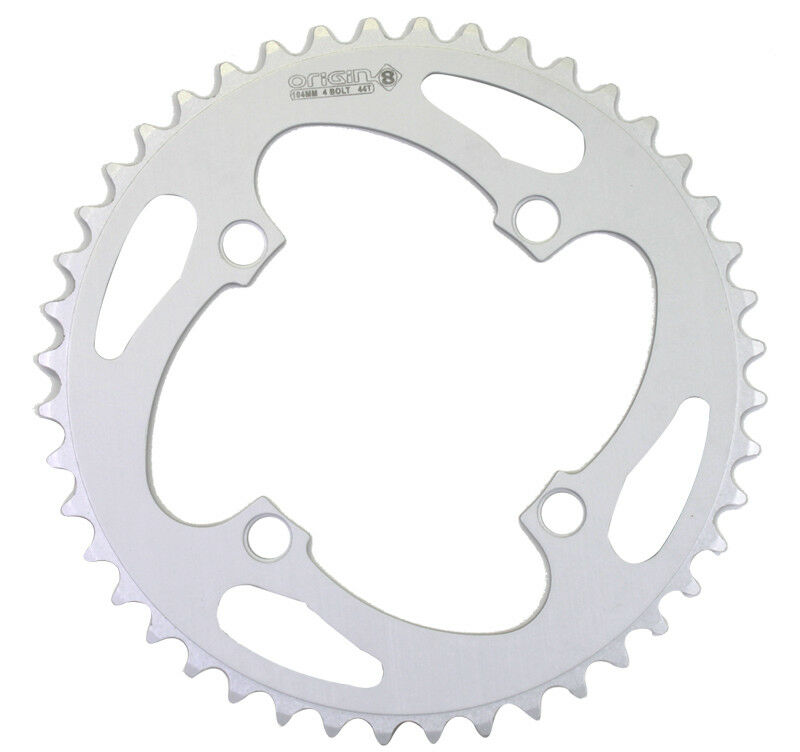 Origin-8 Alloy Blade Chainrings Chainring Or8 104mm 44t 4bolt Aly Sil