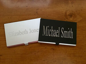 Aluminum Business Card Holder LASER ENGRAVED TO ORDER