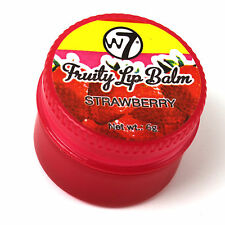 Lip Balm Natural Smooth Strawberry Flavour W7 Moisturising Fruity Gloss