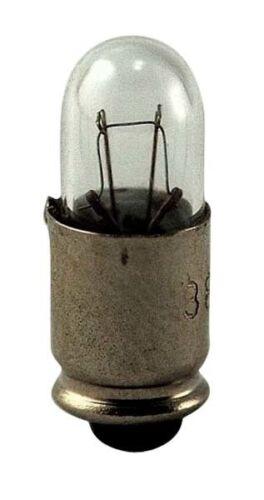 10 Pack Miniature Lamp #388 28V .04Amp T1.75 Midget Groove S5.7s Light 12321