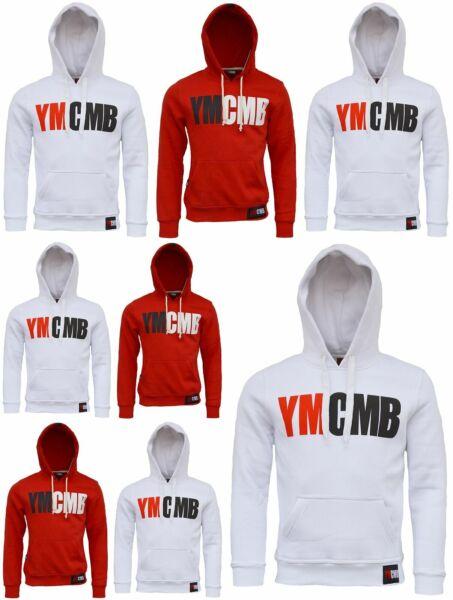 Damen Pullover YMCMB Rot Weiß Hoodie Baumwolle Sweatshirt NEU Gr. XS-XL