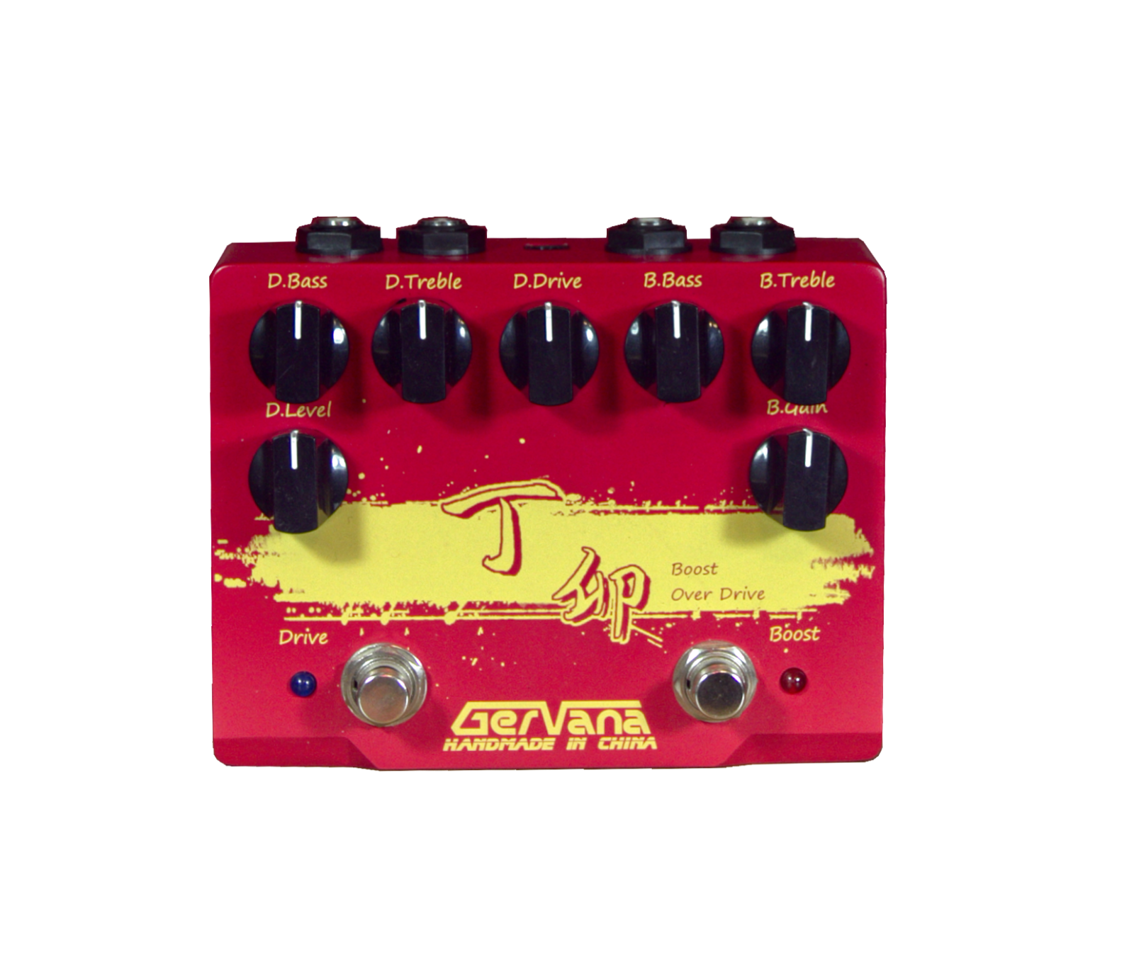 Gervana Ding Mao Hand-wirot Guitar Boost and Overdrive Dual Effect Pedal