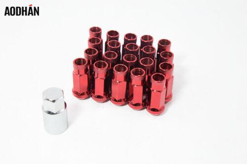 SET OF 20 Aodhan XT51 14X1.5 RACING RED EXTENDED Wheels Tuner Steel Lug Nuts