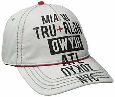 NEW TRUE RELIGION MEN CLASSIC BASEBALL TRUCKER HAT CAP TOUR CITIES WHITE TR1952