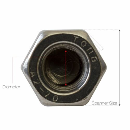Dome Hex Nuts A2 Stainless Steel Acorn M3 M4 M5 M6 M8 M10 M12 DIN1587