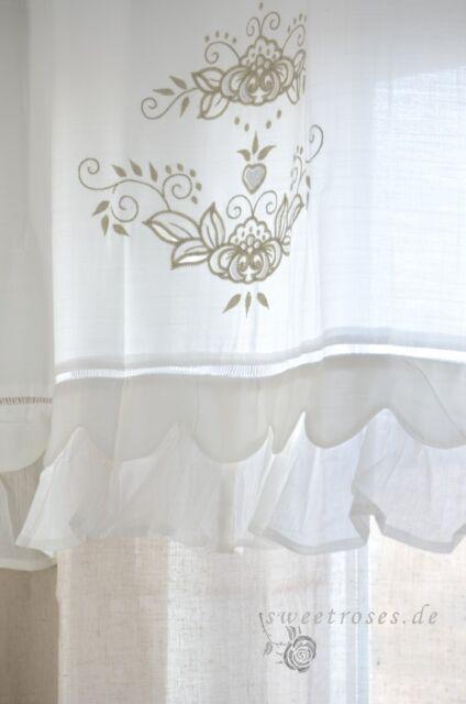 Vorhang Gardine150x260 cm Deko Schal Curtain Shabby Vintage Landhaus Franske NEU