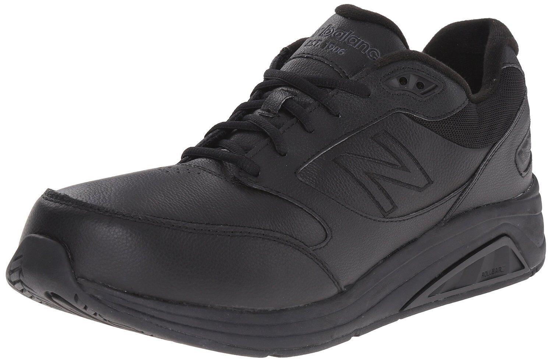 New Balance Hombre Mw928bk3 Cuero Negro Zapatos para Andar