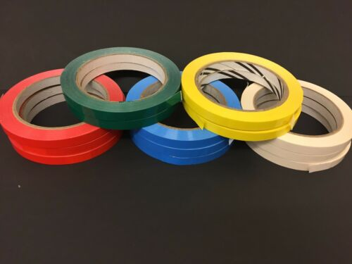 9mm GREEN Vinyl Sealing Tape Butchers Neck Sealer Tape Fruit Veg Food Sweets
