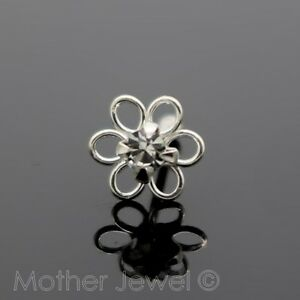 REAL-SOLID-925-STERLING-SILVER-4MM-CRYSTAL-DAISY-FLOWER-NOSE-STUD-PIN-BONE