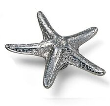 "Cabinet Hardware Star Fish Knobs 56760 Antique Pewter 3"" diam"