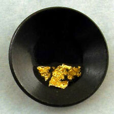 Gold Pan Tie Tack, Flakes of Pure Gold, miner ore prospector dredge sluice pin