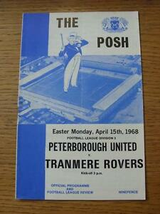 15041968 Peterborough United v Tranmere Rovers  folded - Birmingham, United Kingdom - Returns accepted within 30 days after the item is delivered, if goods not as described. Buyer assumes responibilty for return proof of postage and costs. Most purchases from business sellers are protected by the Consumer Contr - Birmingham, United Kingdom