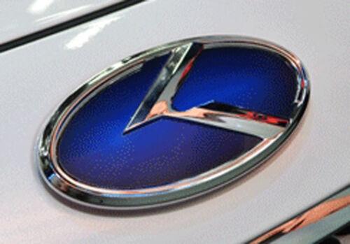 Rear Trunk Grill evolution Emblem Blue 12.9cm For 06 10 Hyundai Sonata NF