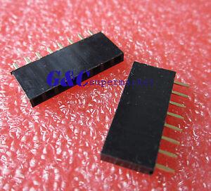 50PCS-8-Pin-8P-2-54mm-Single-Row-Female-Straight-Header-Pin-Strip-J2
