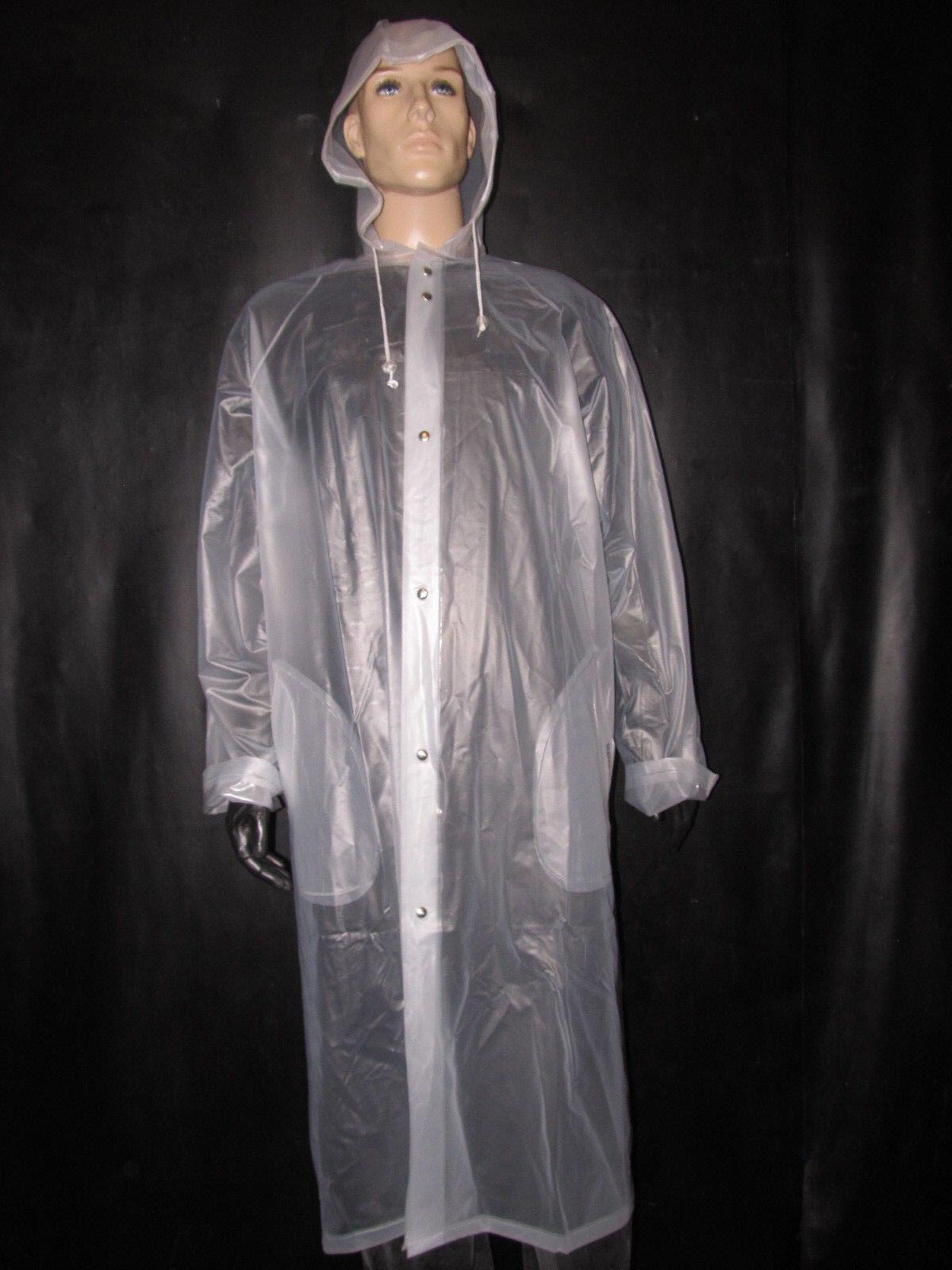 Toller Regenmantel,Soft- PVC Mantel,Regenschutz ,Regenbekleidung,Größe XL