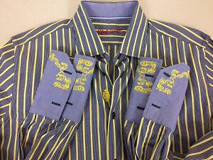 de 1 2 multicolor Condición de vestir para Graham 16 rayas Camisa hombre muy Talla Robert buena qzBCqd