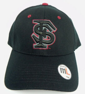 FLORIDA-ST-SEMINOLES-NCAA-BLACK-FLEX-FIT-CAP-HAT-ADULT-Z-FIT-SIZE-M-L-NWT