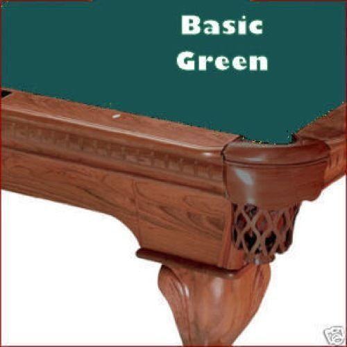 8/' Oversized Basic Green ProLine Classic TEFLON Billiard Pool Table Cloth Felt